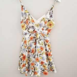 Iris Floral Dress with Wrap Style Top small